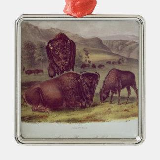 American Bison or Buffalo Metal Ornament