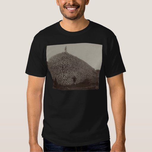 American Bison Skulls to be Ground for Fertilizer Tee Shirt