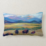 American Bison Throw Pillows