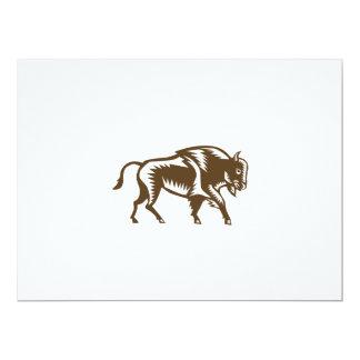 American Bison Woodcut Card