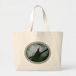 American Bittern Bird Hidden in Pine Tree Bag Jumbo Tote Bag