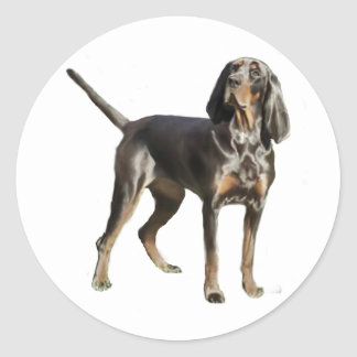 American Black and Tan Coon Hound Classic Round Sticker