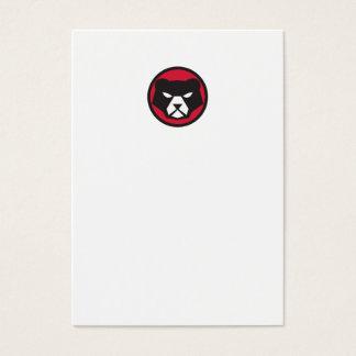 American Black Bear Head Circle Retro Business Card