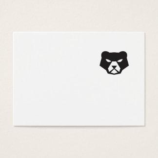 American Black Bear Head Retro Business Card