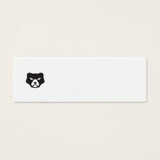 American Black Bear Head Retro Mini Business Card