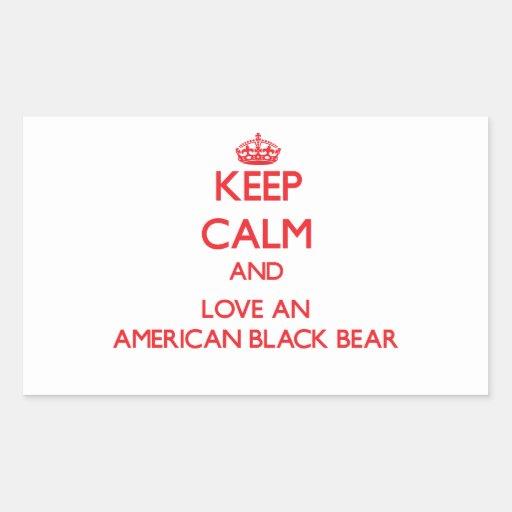 American Black Bear Stickers