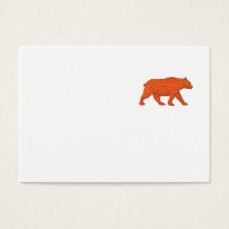 American Black Bear Walking Side Retro Business Card