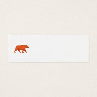 American Black Bear Walking Side Retro Mini Business Card