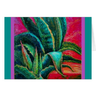 American Blue Agave Desert Gifts by Sharles Greeting Card