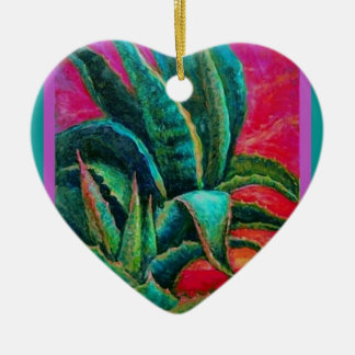 American Blue Agave Desert Gifts by Sharles Ceramic Ornament