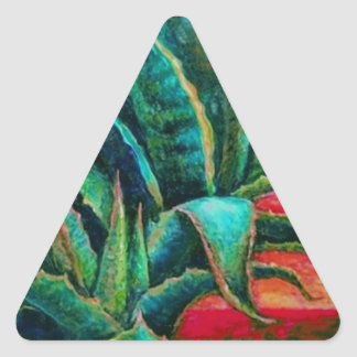 American Blue Agave Desert Gifts by Sharles Triangle Sticker
