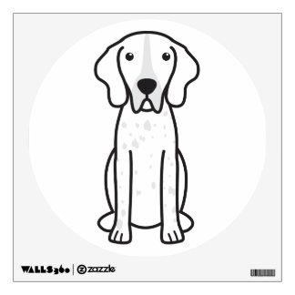 American Blue Gascon Hound Dog Cartoon Wall Decal