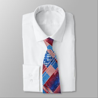 American Blue Jeans Abstract Pattern Tie