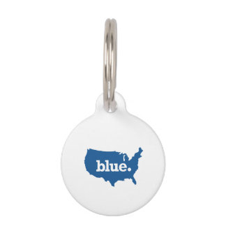 American Blue States Pet ID Tags