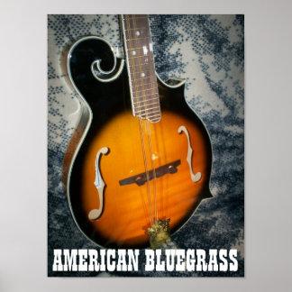 """""""AMERICAN BLUEGRASS"""" Poster"""