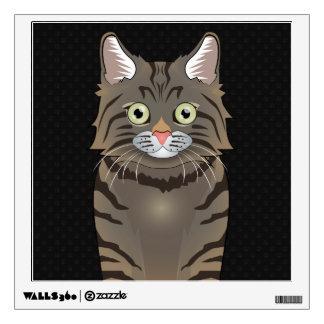 American Bobtail Cat Cartoon Paws Wall Sticker