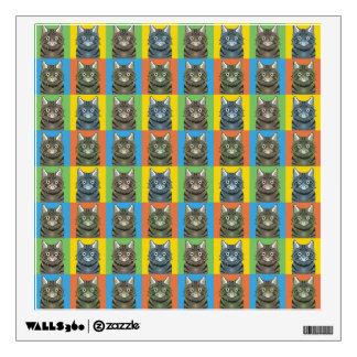 American Bobtail Cat Cartoon Pop-Art Wall Decal
