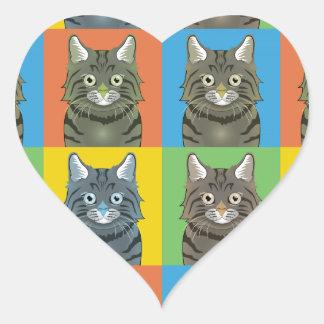 American Bobtail Cat Pop-Art Stickers