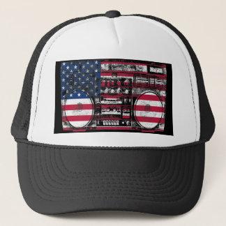 american boombox trucker hat