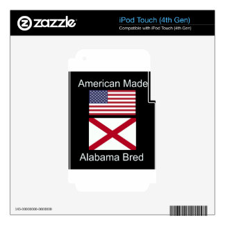"""American Born..Alabama Bred"" Flags and Patriotism iPod Touch 4G Skins"