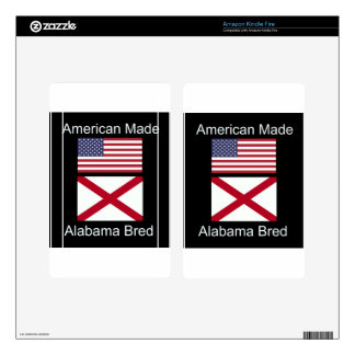 """American Born..Alabama Bred"" Flags and Patriotism Kindle Fire Skins"
