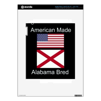 """American Born..Alabama Bred"" Flags and Patriotism Skin For iPad 3"