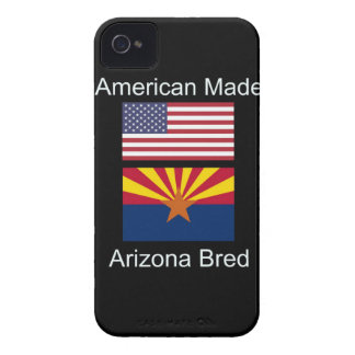 """American Born..Arizona Bred"" Flags and Patriotism iPhone 4 Case-Mate Case"