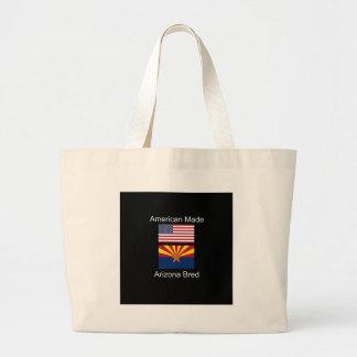 """""""American Born..Arizona Bred"""" Flags and Patriotism Large Tote Bag"""