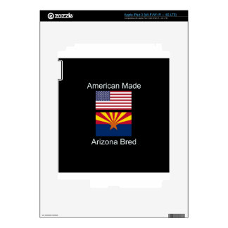 """American Born..Arizona Bred"" Flags and Patriotism Skins For iPad 3"