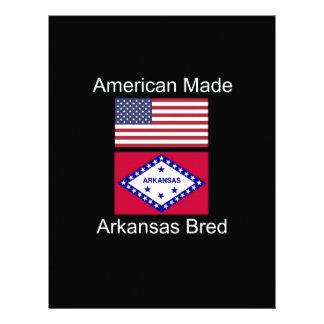 """""""American Born..Arkansas Bred"""" Flag Design Letterhead"""