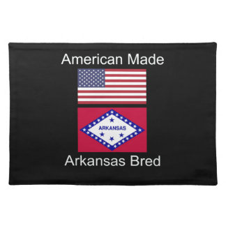 """American Born..Arkansas Bred"" Flag Design Placemat"