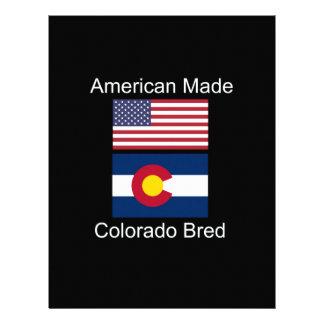 """""""American Born..Colorado Bred"""" Flag Design Letterhead"""