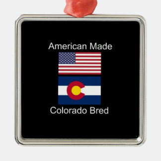 """American Born..Colorado Bred"" Flag Design Metal Ornament"