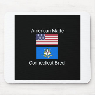 """""""American Born..Connecticut Bred"""" Flag Design Mouse Pad"""