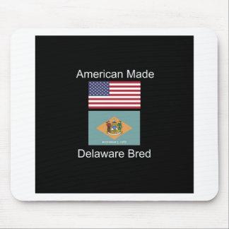 """American Born..Delaware Bred"" Flag Design Mouse Pad"
