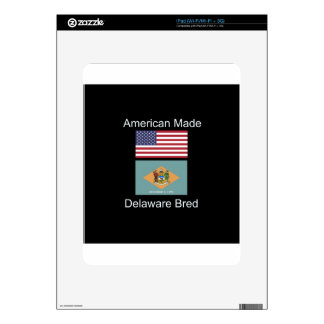 """American Born..Delaware Bred"" Flag Design Skins For The iPad"