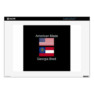 """American Born..Georgia Bred"" Flags and Patriotism Decals For Laptops"