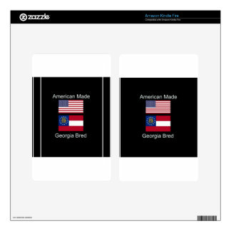 """American Born..Georgia Bred"" Flags and Patriotism Kindle Fire Decal"