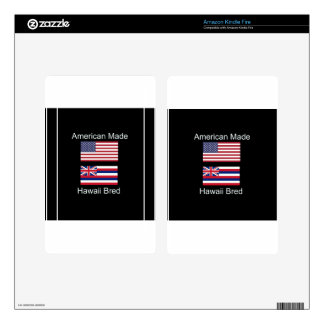 """American Born..Hawaii Bred"" Flags and Patriotism Kindle Fire Skins"