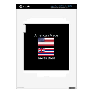 """American Born..Hawaii Bred"" Flags and Patriotism Skins For iPad 3"