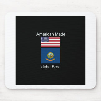 """American Born..Idaho Bred"" Flags and Patriotism Mouse Pad"