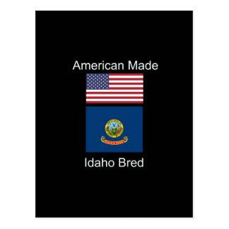 """American Born..Idaho Bred"" Flags and Patriotism Postcard"