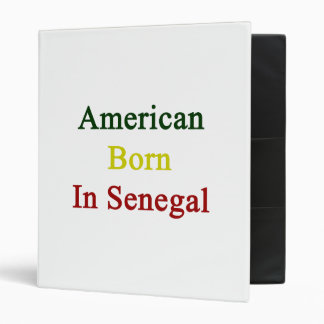 American Born In Senegal 3 Ring Binders