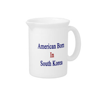 American Born In South Korea Beverage Pitchers