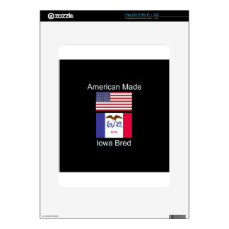 """American Born..Iowa Bred"" Flags and Patriotism iPad Skin"