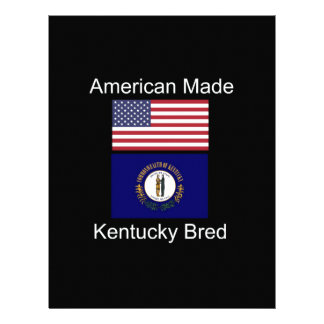 """American Born..Kentucky Bred"" Flag Design Letterhead"