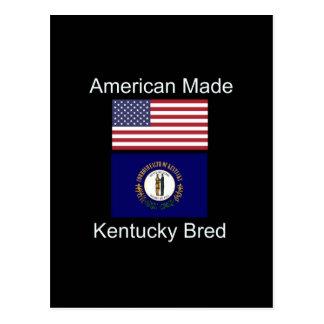"""American Born..Kentucky Bred"" Flag Design Postcard"