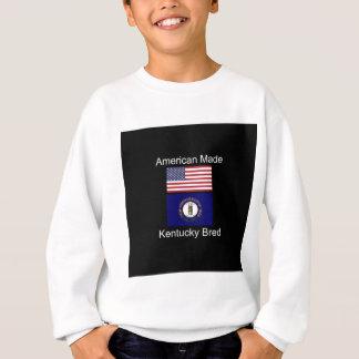 """American Born..Kentucky Bred"" Flag Design Sweatshirt"