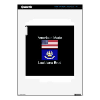 """American Born..Louisiana Bred"" Flag Design iPad 3 Skins"