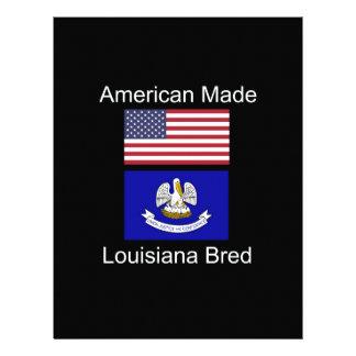 """American Born..Louisiana Bred"" Flag Design Letterhead"